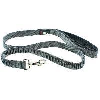 Laisse - Sangle - Accouple I DOG Laisse Confort - L 120 cm - Noir et gris - Pour chien