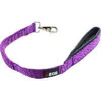 Laisse - Sangle - Accouple I DOG Laisse Confort - L 60 cm - Violet et gris - Pour chien