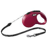 Laisse - Sangle - Accouple KERBL Laisse-corde Flexi Classic S - Longueur - 5 m - Poids max - 12 kg - Rouge - Pour chien