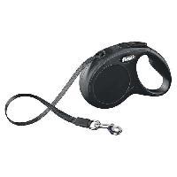 Laisse - Sangle - Accouple KERBL Laisse-corde Flexi Classic S - Longueur - 5 m - Poids max - 15 kg - Noir - Pour chien