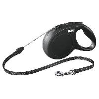 Laisse - Sangle - Accouple KERBL Laisse-corde Flexi Classic S - Longueur - 8 m - Poids max - 12 kg - Noir - Pour chien