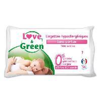 Lait - Eau Micellaire - Liniment - Lingette LOVE et GREEN Lingettes Bebe Sans Parfum Hypoallergeniques 0 x56