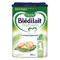 Lait Bebe BLEDINA Bledilait Premium Lait en poudre - 1er age jusqu'a 6 mois - 900 g