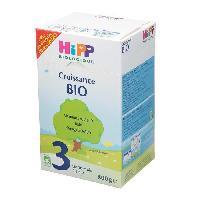 Lait Bebe HIPP BIOLOGIQUE Croissance Lait en poudre 3eme age - Bio - 800 g - De 10 mois a 3 ans