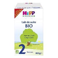 Lait Bebe HIPP BIOLOGIQUE Lait de suite en poudre 2eme age - 800 g - De 6 a 12 mois