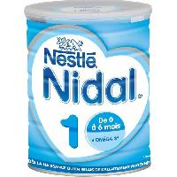 Lait Bebe NESTLE Nidal Lait en poudre 1er age - 800 g - de 0 a 6 mois