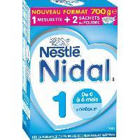 Lait Bebe NESTLE Nidal Lait en poudre 1er age - Bag in Box - 2x350 g - De 0 a 6 mois