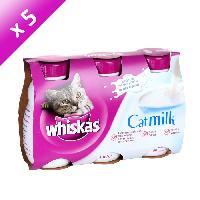 Lait Maternise - Boisson WHISKAS Lait Catmilk - Pour chat - 3 x 200 ml (x5)