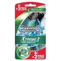Lame De Rasoir Vendue Seule Wilkinson Xtreme 3 Pure Sensitive 8 Rasoirs Jetables
