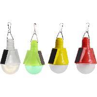 Lampadaire - Lampe De Jardin Ampoule solaire - Plastique multicolore - Plastique translucide - IP44