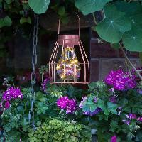 Lampadaire - Lampe De Jardin GALIX Lampe de table solaire : Metal finition cuivré