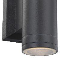 Lampadaire - Lampe De Jardin GLOBO LIGHTING Applique exterieure aluminium fonte gris - Verre translucide