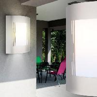 Lampadaire - Lampe De Jardin GLOBO LIGHTING Applique exterieure inox - Plastique opal