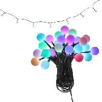 Lampadaire - Lampe De Jardin GLOBO LIGHTING Guirlande exterieure Plastique noir - Plastique opal