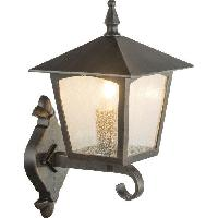 Lampadaire - Lampe De Jardin Globo Lighting Applique extérieure aluminium fonte couleur rouille - Verre translucide - IP44