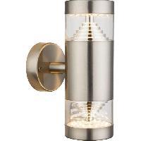 Lampadaire - Lampe De Jardin Globo Lighting Applique exterieure inox - Plastique translucide - IP44