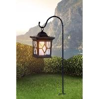 Lampadaire - Lampe De Jardin Globo Lighting Lanterne solaire noir - Plastique noir - Plastique translucide - IP44