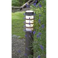 Lampadaire - Lampe De Jardin OSKAR-Borne d'extérieur H51cm brun Brilliant