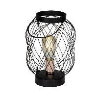 Lampe A Poser BROGAN-Lampe Baladeuse Metal H30cm Noir Brilliant