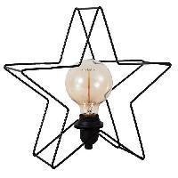 Lampe A Poser ESTRELLA Lampe a poser etoile metal 32 cm noir - Generique