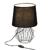 Lampe A Poser NORIS Lampe a poser metal - 38x27cm - Noir - Brilliant