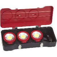 Lampe De Chantier KS TOOLS Coffret de 3 projecteurs LEDs 3W Kreidler