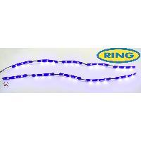 Lampes LEDs 2 Bandes 15 LEDs Flexibles - 37cm - Effet halo - Bleu