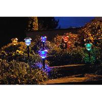 Lampion - Lanterne D'exterieur Decoration a energie solaire - lot de 6 lanternes - Galix