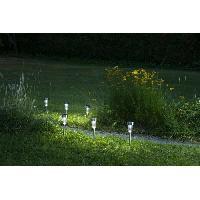 Lampion - Lanterne D'exterieur GALIX Lot de 5 lanternes solaire - Inox - 7 lumens