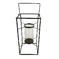 Lampion - Lanterne D'exterieur HOMEA Lanterne en metal 18x18xH36 cm noir - Generique