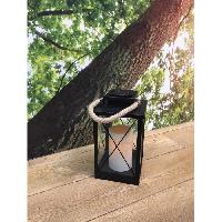 Lampion - Lanterne D'exterieur LUMISKY Lanterne solaire LED - 22x22x35cm - Blanc chaud