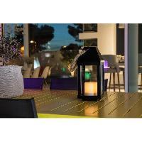 Lampion - Lanterne D'exterieur LUMISKY Lanterne solaire LED - O13.5x30.2cm - Blanc chaud