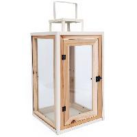 Lampion - Lanterne D'exterieur Lanterne en bois et metal - 42 cm - Aucune