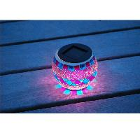 Lampion - Lanterne D'exterieur Lanterne solaire decorative. verre effet mosaique - Galix