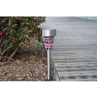 Lampion - Lanterne D'exterieur Lanterne solaire en inox effet mosaique 1 LED - Galix
