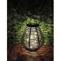 Lampion - Lanterne D'exterieur MUNDUS Lanterne solaire Rochas en plastique O21.4 x H21.6 cm - Gris
