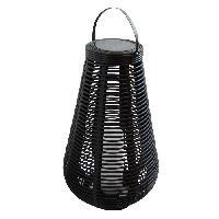Lampion - Lanterne D'exterieur MUNDUS Lanterne tressee en plastique O38 x H60 cm - Noir