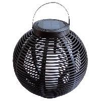 Lampion - Lanterne D'exterieur MUNDUS Lanterne tressee en plastique O42 x H40.5 cm - Noir
