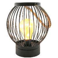 Lampion De Deco De Fete - Lanterne De Fete THE HOME DECO LIGHT Lanterne filaire - Ampoule LED Bistrot - 18 x 15 cm - Noir
