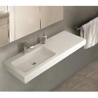 Lavabo - Vasque MITOLA Plan vasque rectangulaire suspendu 1 bac gauche Ibiza 120x46cm