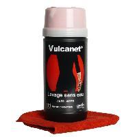 Lavage et lustrant sans eau - Boite 80 lingettes plus 1 microfibre - Pour auto et moto - Vulcanet