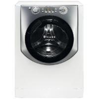Lave-linge Sechant HOTPOINT AQD970L 49 EU - Lave linge séchant frontal - Lav. 9kg / séch. 7kg - 1400 tr / min - A - Moteur induction - Blanc