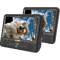 Lecteur - Enregistreur Video D-JIX PVS 706-50SM Lecteur DVD portable 7 Double ecran + Supports appui-tete