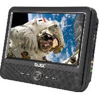 Lecteur - Enregistreur Video D-JIX PVS 706-70DP Lecteur DVD portable 7 Double ecran + Supports appui-tete