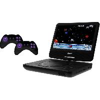 """Lecteur - Enregistreur Video D-JIX PVS906-20 Lecteur DVD  9"""" rotatif - 2 manettes - 64 jeux inclus - Noir - Djix"""