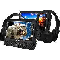 Lecteur - Enregistreur Video D-JIX PVS906-70DPC Lecteur DVD portable 9 - 2 casques audio filaires - Noir