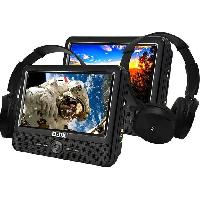"Lecteur - Enregistreur Video D-JIX PVS906-70DPC Lecteur DVD portable 9"" - 2 casques audio filaires - Noir - Djix"
