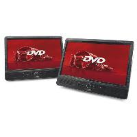 Lecteur - Enregistreur Video Double lecteur DVD portable avec ecran TFT LCD 10.1p Caliber