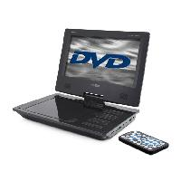 Lecteur - Enregistreur Video MPD109 - Lecteur DVD portatif equipe d'un ecran de 9p et batterie integree