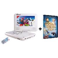 Lecteur - Enregistreur Video TAKARA-VR132WPK  Lecteur DVD portable écran 7'' blanc + Film DVD la croisée des mondes